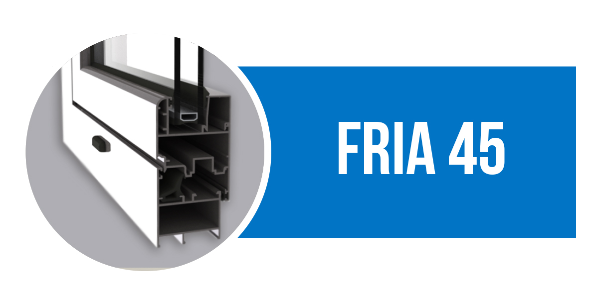 Canal 16 serie FRIA 45, perfil de aluminio