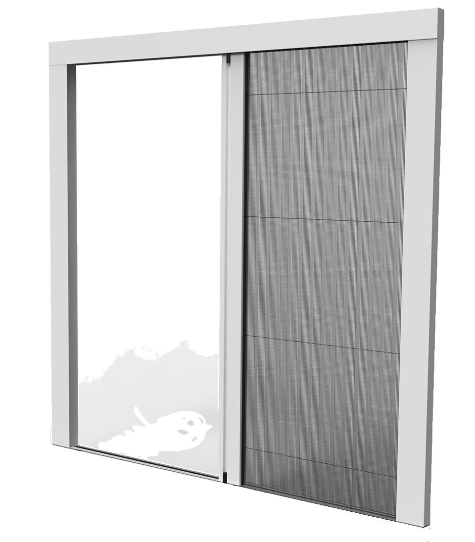 Puerta mosquitera plisada