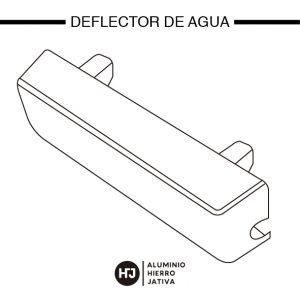 Deflector de agua 1 ventana corredera minimalista