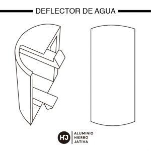 deflector de agua ventana corredera minimalista