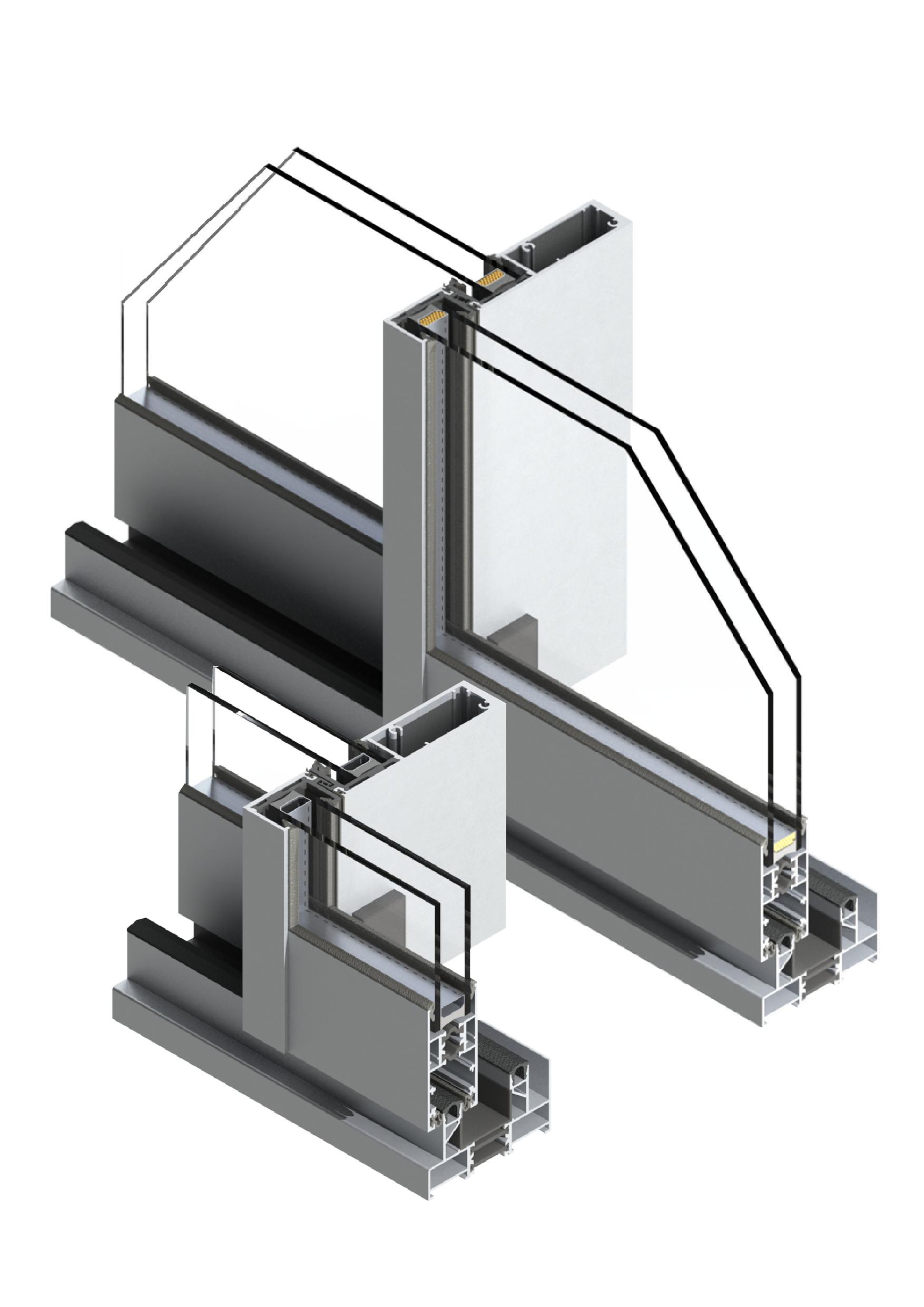 GS82 Corredera RPT sección carpintería metálica