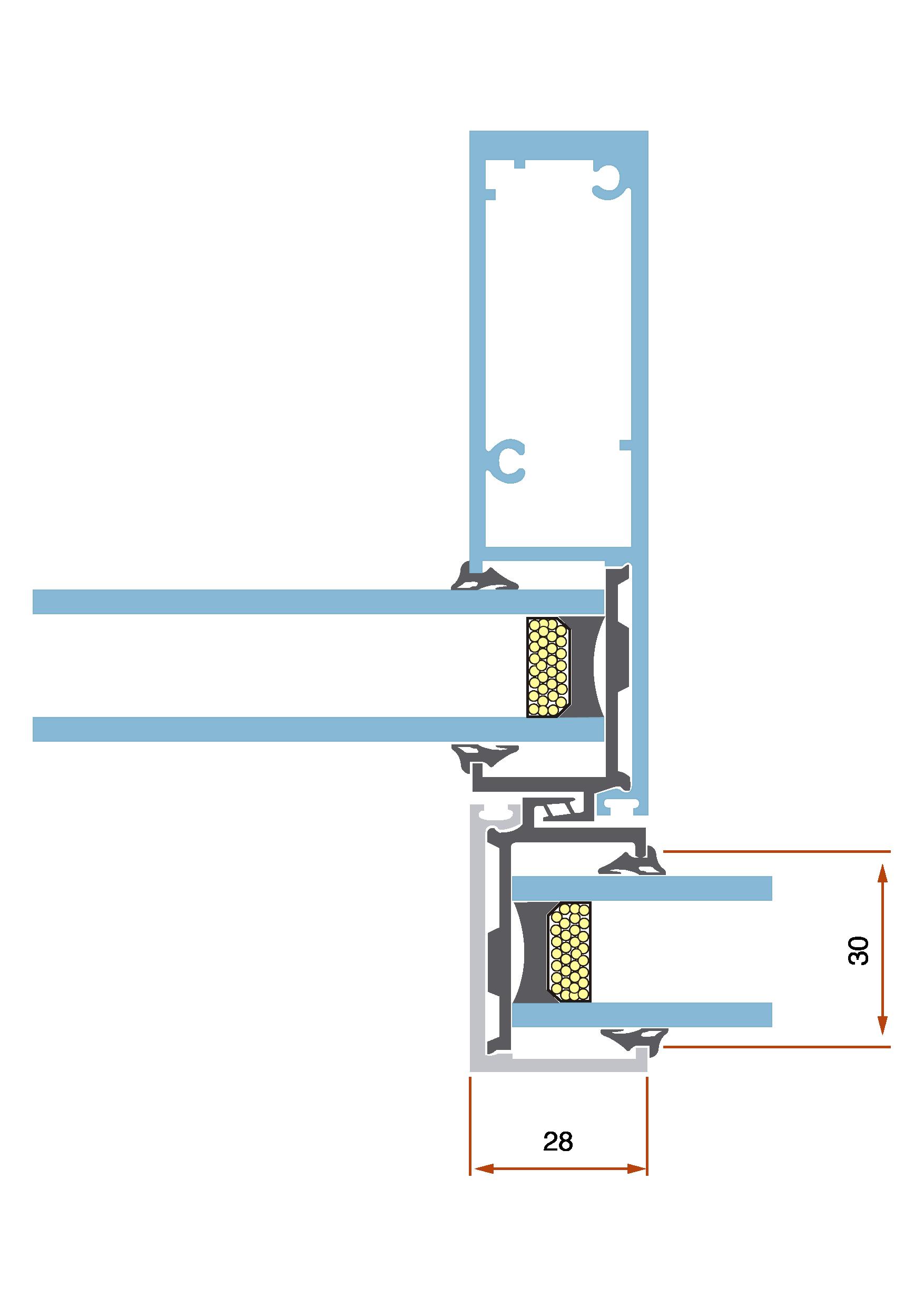 GS82 Corredera RPT sección 2 carpintería metálica